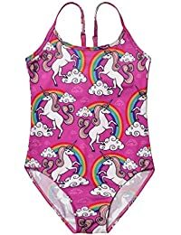 dce6ca6190 Girls Unicorn Swimsuits One Piece Swimwear Bathing Suits Rash Guard UPF 50+