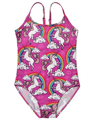 Girls One Piece Bathing Suit (Jxstar Girls Bathing Suit For Girls Unicorn 140)