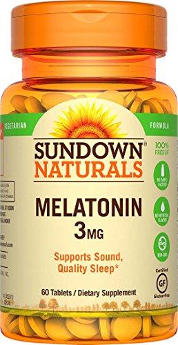 Sundown Naturals Melatonin 3 mg, 60 Tablets