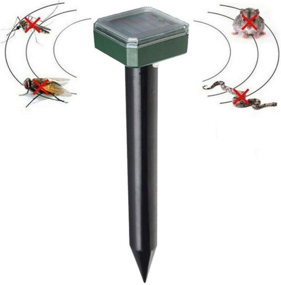 DjfLight Repelente Ultrasónico de Plaga, Control de Plagas, Ahuyentador de Insectos, electrónica Solar expulsa Las plagas, Nuevas Unidades ultrasonido energía expulsar roedores, Insectos Mosquitos,A