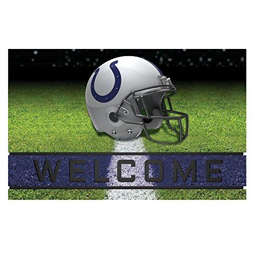 Indianapolis Colts Door Mat (FANMATS 19946 Team Color Crumb Rubber Indianapolis Colts Door Mat, 1 Pack)