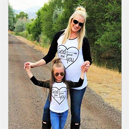 Dark Family T-shirt Family - Wpch Couples Baseball Tee God gave me You Christian T-Shirt Family Cloth Family Matching Outfits T-Shirt Mother Daughter Son Kid Top Multi-Color Kid-S