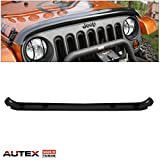 AUTEX Hood Shield Bug Deflector Fits for 2007-2017 JEEP WRANGLER Bug Protector Shields
