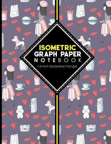 """Download Isometric Graph Paper Notebook: 1/4 Inch Equilateral Triangle: Isometric Drawing Paper, Isometric Grid Paper, Isometric Sketching Paper, 8.5"""" x 11"""", 100 pages (Volume 60) ebook"""