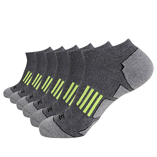JOYNÉE Men's 6 Pack Athletic No Show Performance Comfort Cushioned Low Cut Running Socks …