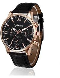 Men 's Quartz Watch, N5230 Retro Design Analog Quartz Wrist Watch on Sale Casual / Business Watch PU Leather Band Strap Clearance Fashion Man' s Dress by St.Dona (Black)