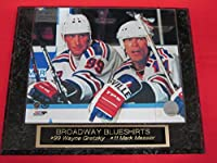 Wayne Gretzky Mark Messier New York Rangers Collector Plaque w/8x10 Color Photo
