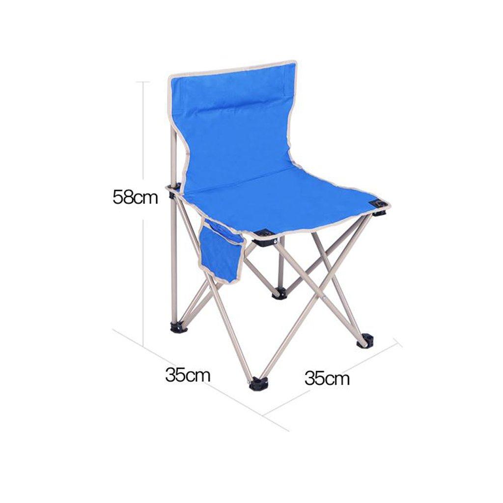 GHM Boden Stuhl Klappstuhl im Freien Portable Camping Strand Angeln Stuhl Malerei Stuhl