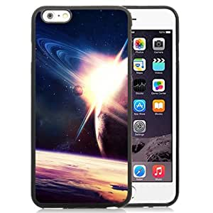New Beautiful Custom Designed Cover Case For iPhone 6 Plus 5.5 Inch With Space Turning Around Planet Phone Case