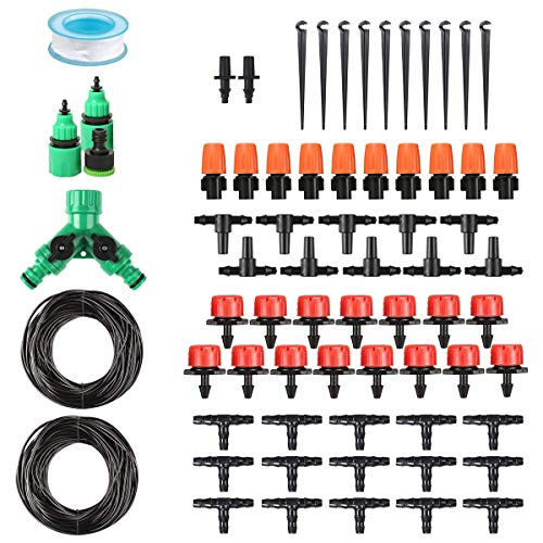 Chutsang DIY Drip Irrigation Kit Plant Watering System,1/4