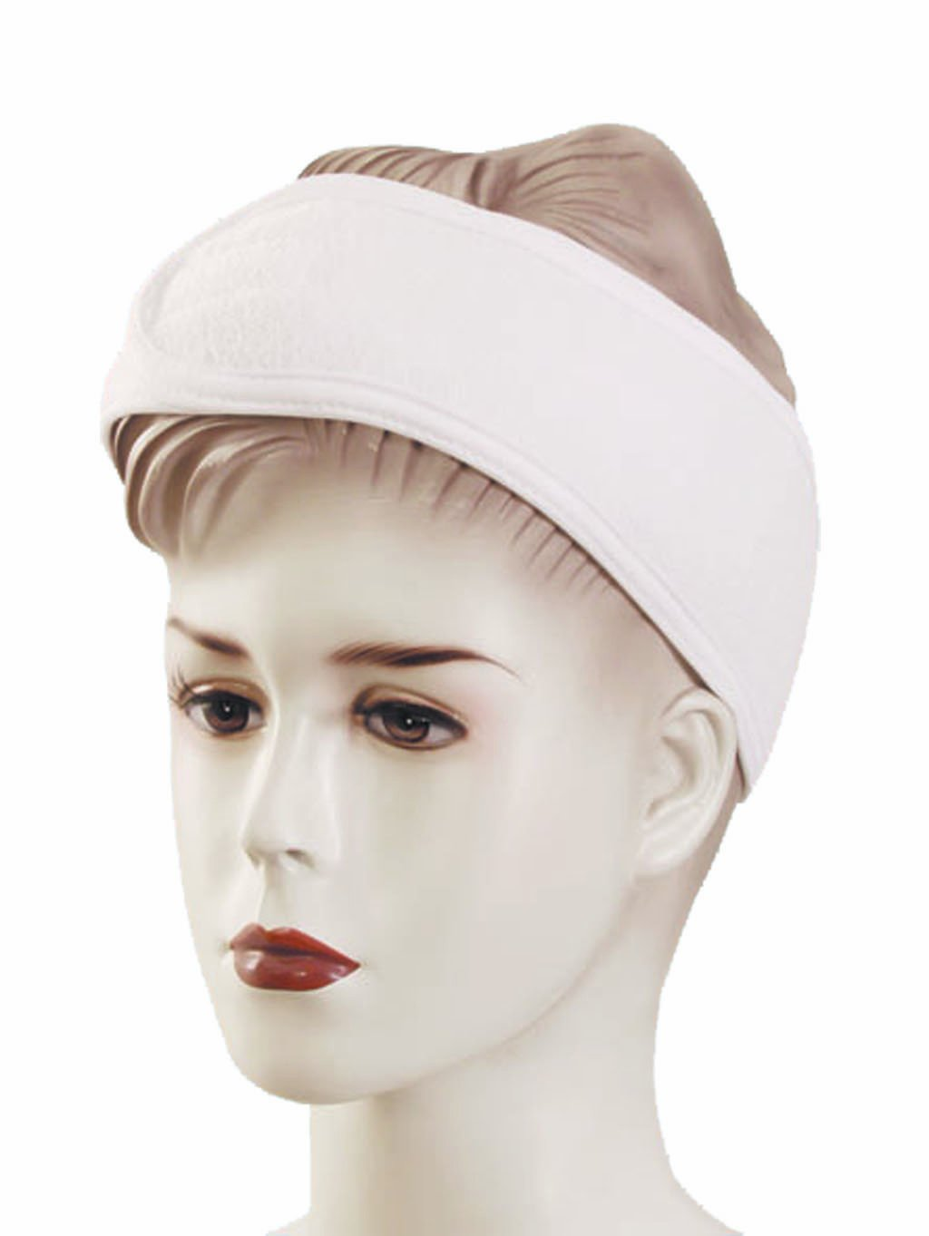 Amazon.com   Huini Toweling Headband (Thick Type) Head Band Salon Spa  Facial - 2pc in 1 Package White   Facial Steamers   Beauty fb605b61dfe