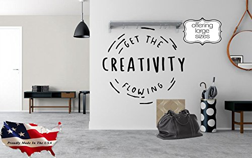 Creativity quote wall decal, creativity quote sticker, be creative wall quote, motivational quote decal, trendy decal quote pf8 (35