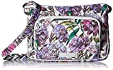 Vera Bradley Iconic RFID Little Hipster, Signature Cotton, Lavender Meadow