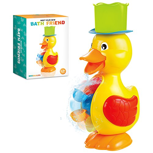 BOOBAALOO Duck Bath Toy – Baby Toys for Toddlers and Infants – Fun, Interactive and Developmental Toys for Babies Making Bath Time Fun