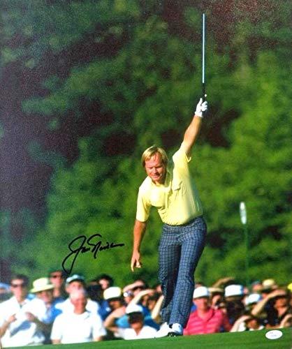 Jack Nicklaus Golf Legend Autographed Signed Signature16x20 Canvas Mounted - JSA Authentic