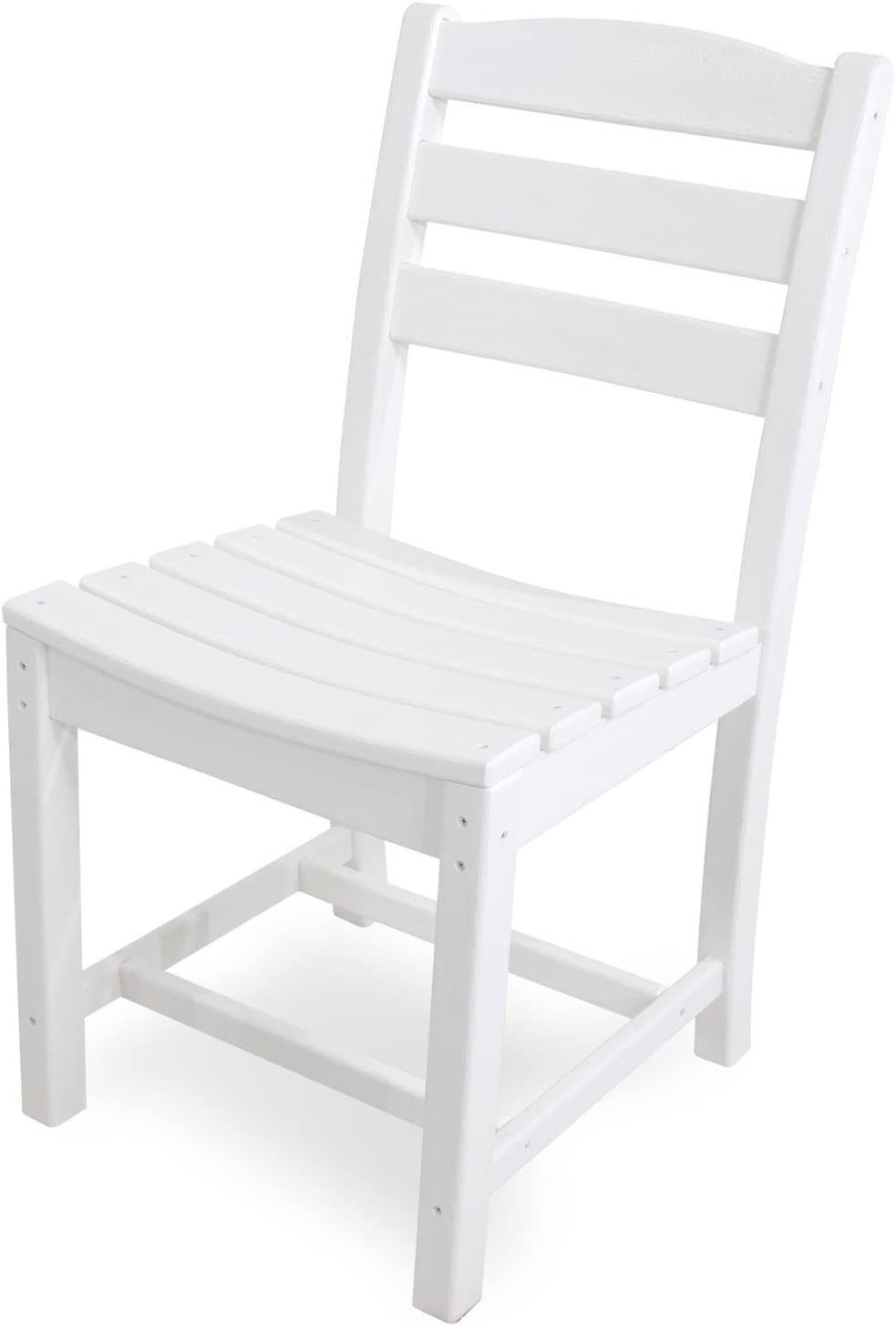 POLYWOOD TD100WH La Casa Café Dining Side Chair, White