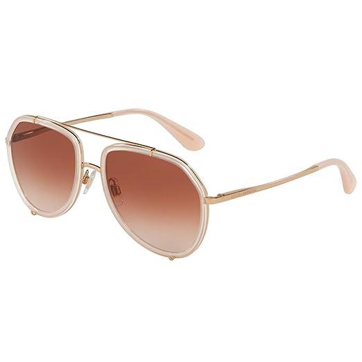 Femmes 0dg2161 129813 Lunettes De Soleil, Or Rose Opale / Rose / Pinkgradient, 55 Dolce & Gabbana