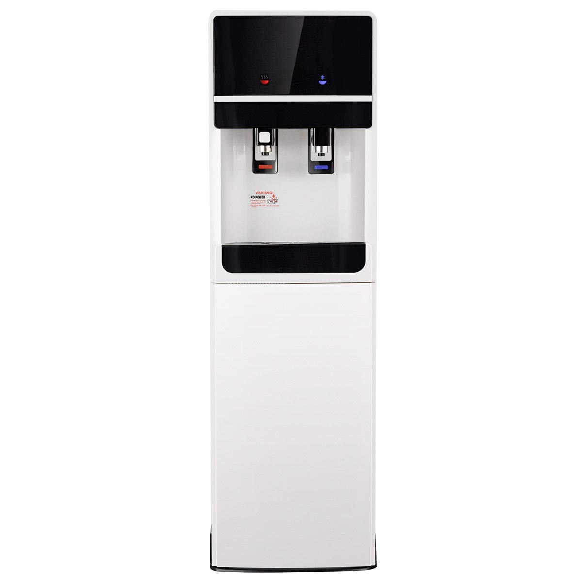 Costway Bottom Loading Water Cooler Dispenser with 2 Temperature Settings, 5 Gallon Hot & Cold Dispenser with Child Safety Lock, Underlying Stainless Steel Ideal for Home/Office, UL Approved by COSTWAY