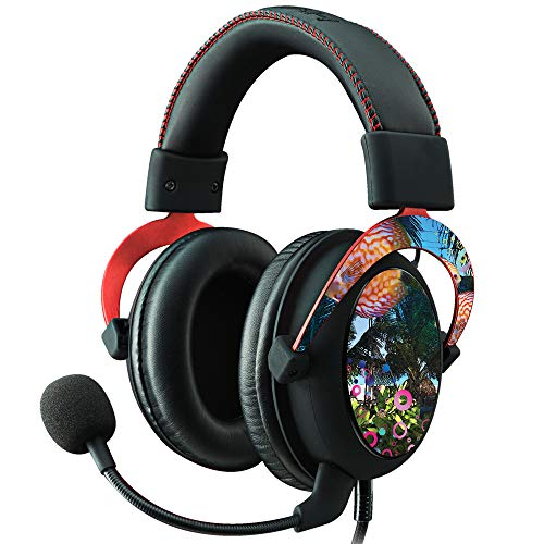 MightySkins Skin for Kingston HyperX Cloud II Gaming Headset - Psychedelic Vacation | Protective, Durable, and Unique Vinyl Decal wrap Cover | Easy to Apply, Remove, and Change Styles
