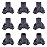 XIHAA Trekking Pole Triangle Rubber Foot Cover Replacement Pole Tip Protectors Fits Most Standard Hiking Poles With Shock Absorbing, Adds Grip, Traction, And Stability Black(9PCS)