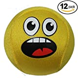 Skip Fun Emoji Ball Pool Games, Lake Toys, Water Balls For Extreme Swimming Skipping, Best Toy For Beach Fu (Thrilled, 12 Pack)