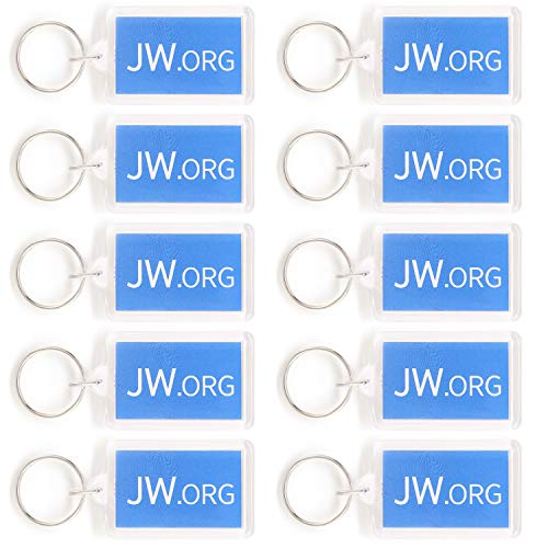 Rectangle Jw.org No Blood Double Sided Key Chain Jehovah's Witnesses Accessory 10 Pack]()