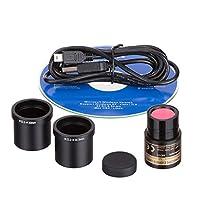 AmScope MD35 Nueva cámara digital con cámara de microscopio USB, compatible con Windows XP /Vista /7/8/10