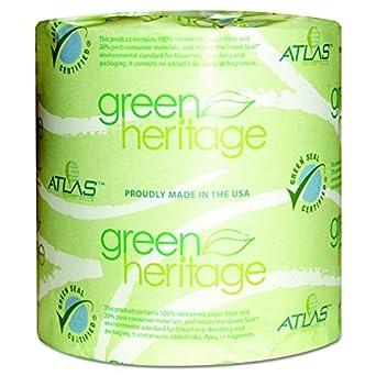 green heritage 276 2 ply bathroom tissue 41 length x 31 width - Bathroom Tissue
