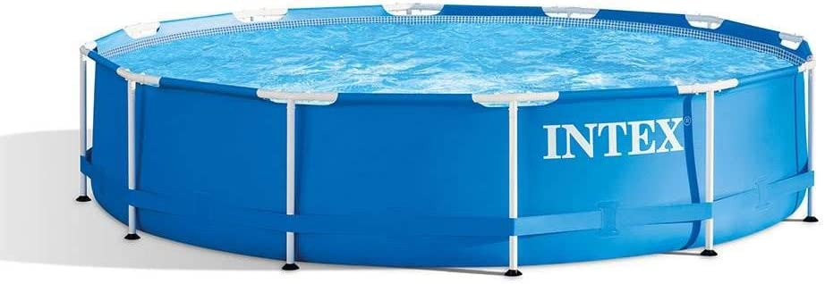 Amazon Com Intex 28210eh 12 Foot X 30 Inch Above Ground Swimming Pool That Fits Up To 6 People With Easy Set Up Pump Not Included Garden Outdoor