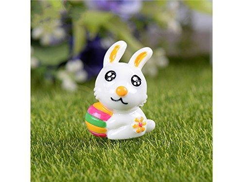 FERFERFERWON Micro Animali dello zodiaco cinese in miniatura coniglio paesaggio giardino decorazione della casa (bianco) Decorazione del paesaggio