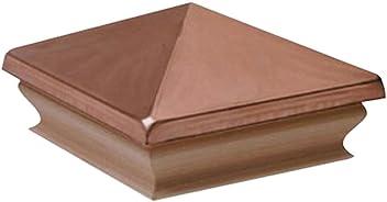 1 PC Premium Cedar Wood Fence Post Cap Fits Up To 4.5 x 4.5 Inch Post Woodway Pyramid 5x5 Post Cap Newel Post Top 5 x 5