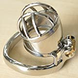 Stainless Steel Male Chastity Cage Device Belt Cock Cage Restraint Men Bondage Fetish Sex Toy (1.77 inch/ 45mm)
