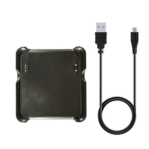 Kissmart Garmin Vivoactive Charger, Replacement Charging Cradle Dock for Garmin Vivoactive GPS Smart Watch (Black)