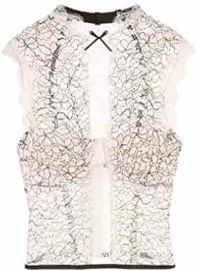 1e989bc5745 Victoria s Secret Dream Angels Chantilly Lace High-neck Bustier VS Ivory