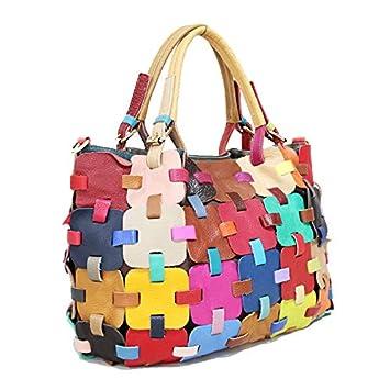 UHUBBG Shoulder Bag Handbag Bag Big Bag Color Matching Messenger Bag 35X28X14Cm Color