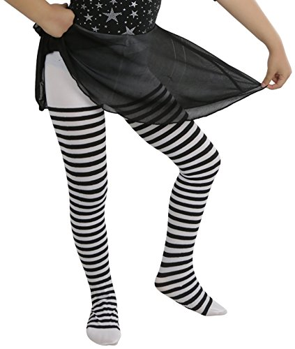 Expert choice for black and white striped tights girls