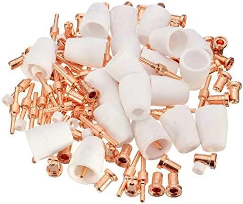 Welding Torch Accessories Kit PT-31-40 Air Plasma Cutter Extend Consumables Fit Cut-40 40D 50 50D 120Pcs Welding Torch Supplies