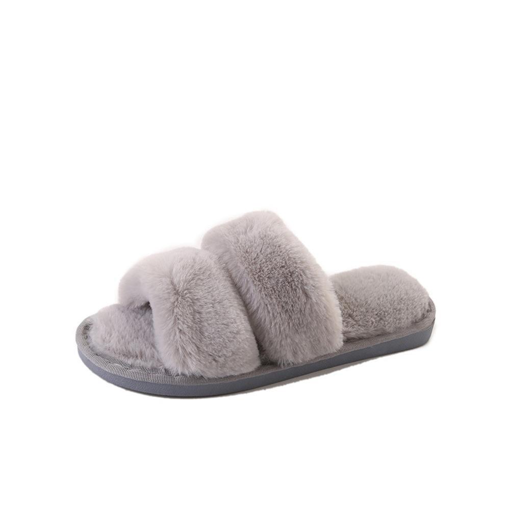 Longless Hausschuhe Schlafzimmer rutschfeste Winter Soft Indoor Soft Winter Plüsch weiblich Hausschuhe Home Baumwolle Hausschuhe, D, 6.5UK=40EU D 5f9d9e