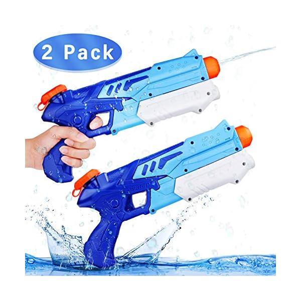 Ucradle 2 Pistole ad Acqua Bambini, Squirt Gun per Bambini e Adulti Estivi All'aperto per Divertimento, 300ML Summer… 1 spesavip