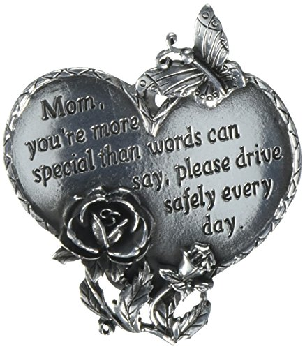 Cathedral Art KVC321 Heart Visor Clip, Mom, 2-3/4-Inch