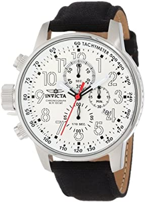 "Invicta Men's 1514 I ""Force Collection"" Stainless Steel Cloth Strap Watch"