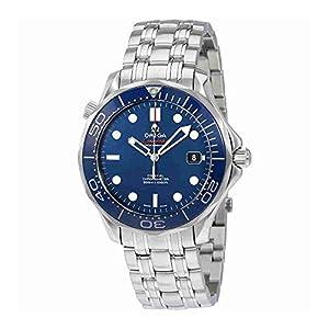 Omega Men's O21230412003001 Seamaster Analog Display Automatic Self-Wind Silver-Tone Watch
