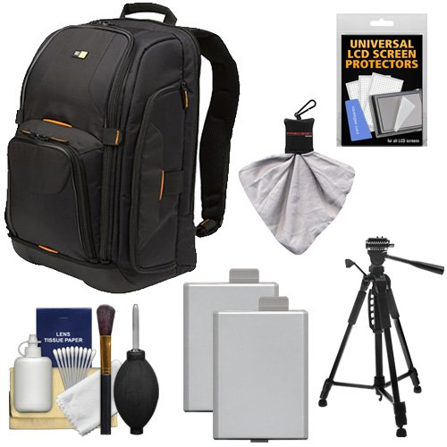 Case Logic Digital SLR Camera Backpack  + 2 LP-E5 Batteries