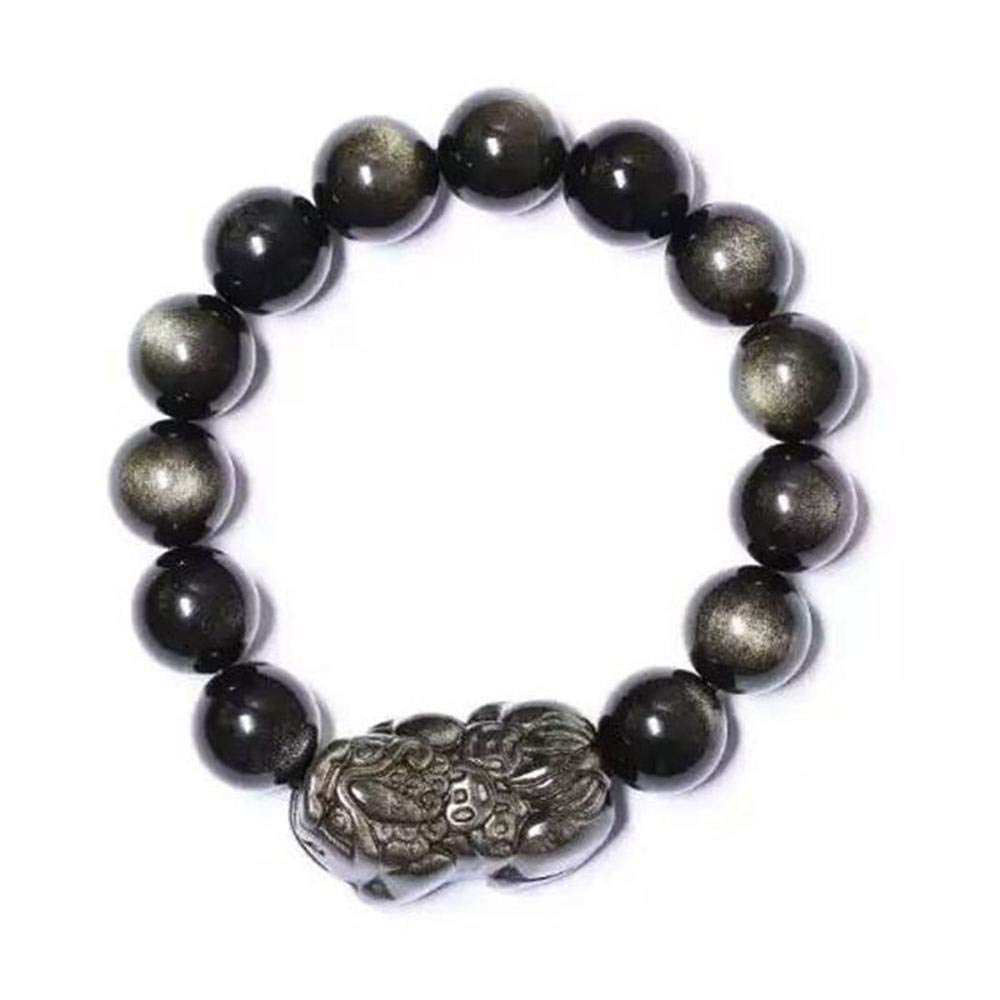 Zicue Stylish Charming Bracelet Exquisite Ornaments Natural Jin Shi Pixiu bracelet men and women gifts ( Size   12mm )