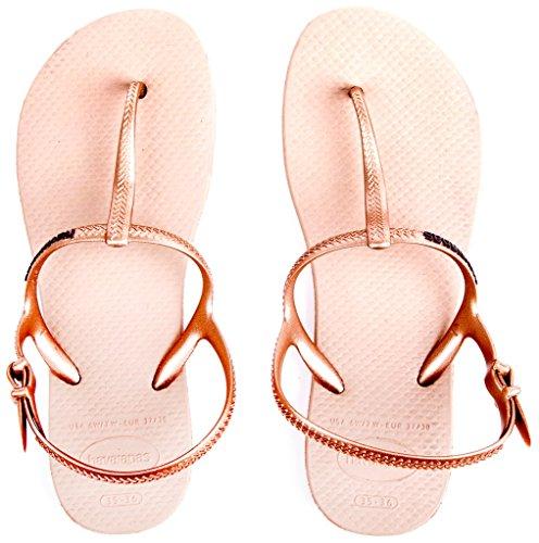 ... Havaianas Freedom, sandales Femme Beige (rose Doré 3581)