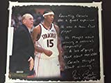 "Facsimile Autographed/Signed Jim Boeheim 16x20 Story Canvas ""Recruiting Carmelo Anthony"" Steiner Sports"