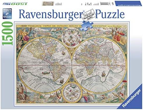 Ravensburger - Mapamundi histórico, Puzzle de 1500 Piezas (16381 6): Amazon.es: Juguetes y juegos
