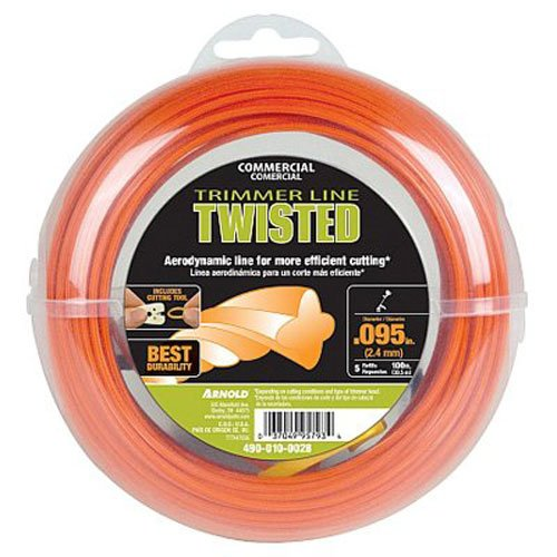 Twisted Trimmer Line - Arnold Trimline .095-Inch x 100-Foot Commerical Twisted Trimmer Line