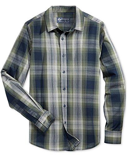 American Rag Men's Long-Sleeve Plaid Shirt, Calm Sage (3XL)