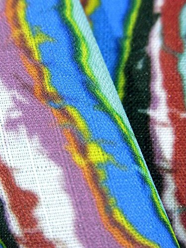 [kimonotte] キモノッテ 夏物 単衣 Mサイズ よろけ縞に貝 裄67.4cm 身丈159cm